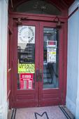 A red door in downtown Gardner, MA