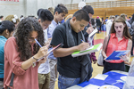 High school students at a college fair. #1
