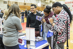 High school students at a college fair. #2