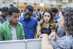 High school students at a college fair. #3