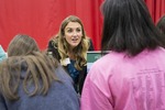 High school students at a college fair. #4