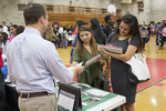 High school students at a college fair. #10