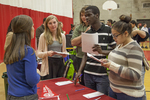 High school students at a college fair. #9