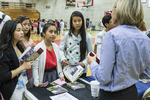 High school students at a college fair. #8