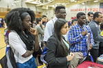 High school students at a college fair. #5