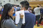 High school students at a college fair. #6