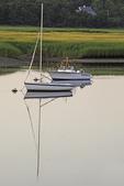 Sailboats moored in Pamet Harbor, Truro, MA