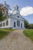 Driveway leading up to the Congregational Church in Stoddard, NH