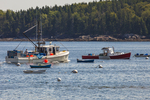 Fishing boat in Owl's Head Harbor, Maine