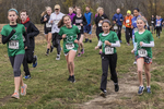 Children racing in a cross country race