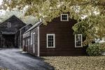 Old New England barn in Deerfield, MA