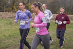 Runners in a cross country fall race