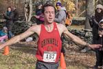 A runner finishing a race