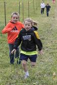 Several children racing