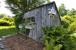 An old garden shed at the Berkshire Botanical Garden