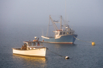 Fishing boats moored in Lubec, ME Harbor