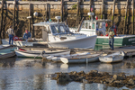 Fishing boats docked in Camden, Maine Harbor