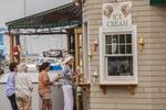 People buying ice cream in Camden Maine