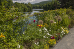 Flowers adorn the Bridge of Flowers in Shelburne Falls, MA