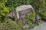 World War 1 and 2 monument on the Bridge of Flowers in Shelburne Falls, MA
