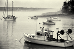 Boats moored at Five Islands, Georgetown, ME
