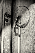 A hook on a door