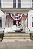 Phillipston, MA Town Hall decorated for voting day