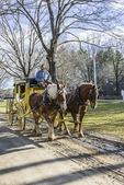 Horse drawn coach at Old Sturbridge Village, Sturbridge, MA