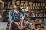 Potter at Old Sturbridge Village, Sturbridge, MA