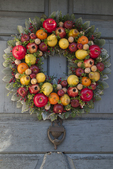 Holiday wreath at Old Sturbridge Village, Sturbridge, MA