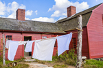 Sheets hanging out to dry at the Freeman Farm at Old Sturbridge Village, Sturbridge, MA