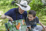 Children learning about nature at Mt Grace Land Trust in Athol, MA