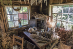 The interior of the garden shed at Pickity Place, Mason, NH
