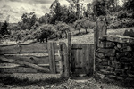 An old farm gate at Old Sturbridge Village