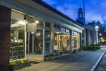 Night time and stores in Lenox, MA