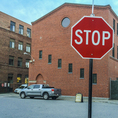 Stop sign, Worcester, MA