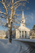 Congregational Church after a snow storm, Phillipston, MA