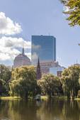 View from the Boston Public Garden of the John Hancock Building