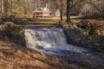 A waterfall where an old mill use to stand in Petersham, MA