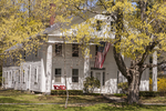 Old colonial style home on the common in Petersham, MA