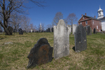 Old cemetery in the center of Petersham, MA