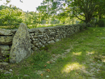 Stone wall on an old country road in Petersham, MA