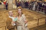 A couple of actors dressed up for Flora at the Worcester Art Museum