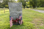 A stone monument at Dana Common, one of the four towns destroyed to make the Quabbin Reservoir