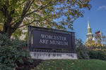 Sign on Salisbury Street for the Worcester Art Museum