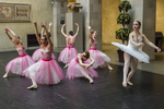 Young ballerinas performing for an audience