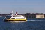 Casco Bay Lines Ferry in Portland Harbor, Maine