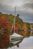 Sailboat on Mill Pond in Harrisville, NH