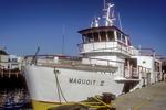 Boat docked in Portland, Maine