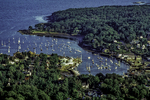 View of Camden Harbor, Maine from Mt. Battie
